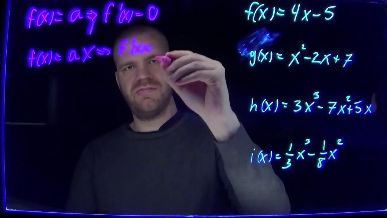 Regneregler for derivasjon