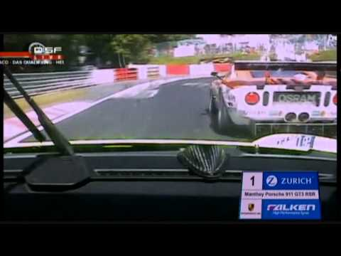 Manthey Porsche vs Ford GT Battle Nurburgring Nordschleife 24H
