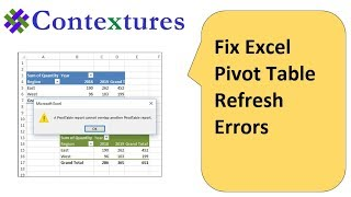 Fix Excel Pivot Table Refresh Errors