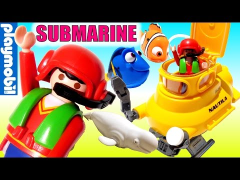 Submarine Featuring Dory, Bailey, Nemo & Hank!