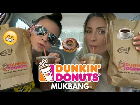 Dunkin' Donuts Mukbang!! Food & Drink (Car Mukbang)