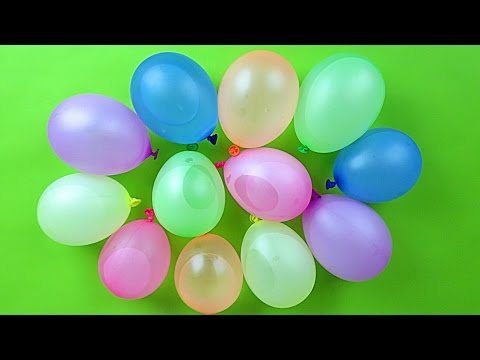 Learn Colors w/ Water Balloons! Colour Lesson with a Splash! Water Balloon Fight!