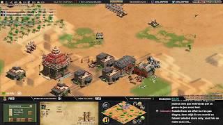 AGE OF EMPIRES 2 - EXPERT PLAYERS - VILLESE vs RUBENSTOCK - 1v1 Arabia