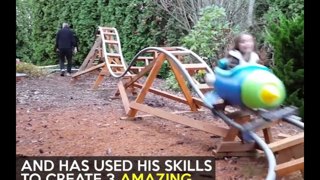 the best granddad in the world builds roller coaster for grand