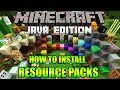 MINECRAFT : How To Download & Install Resource Packs/Texture Packs in Minecraft 1.13