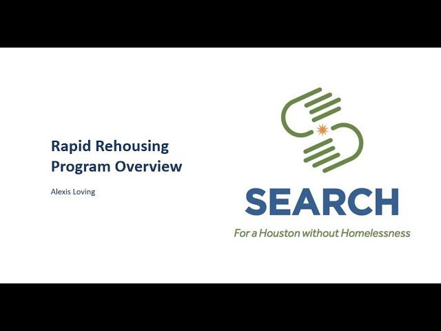Rapid Rehousing program overview