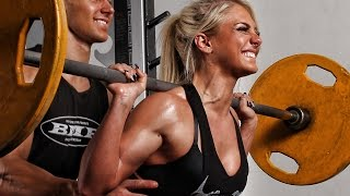 Bikini Fitness Girl Squats 265 for reps