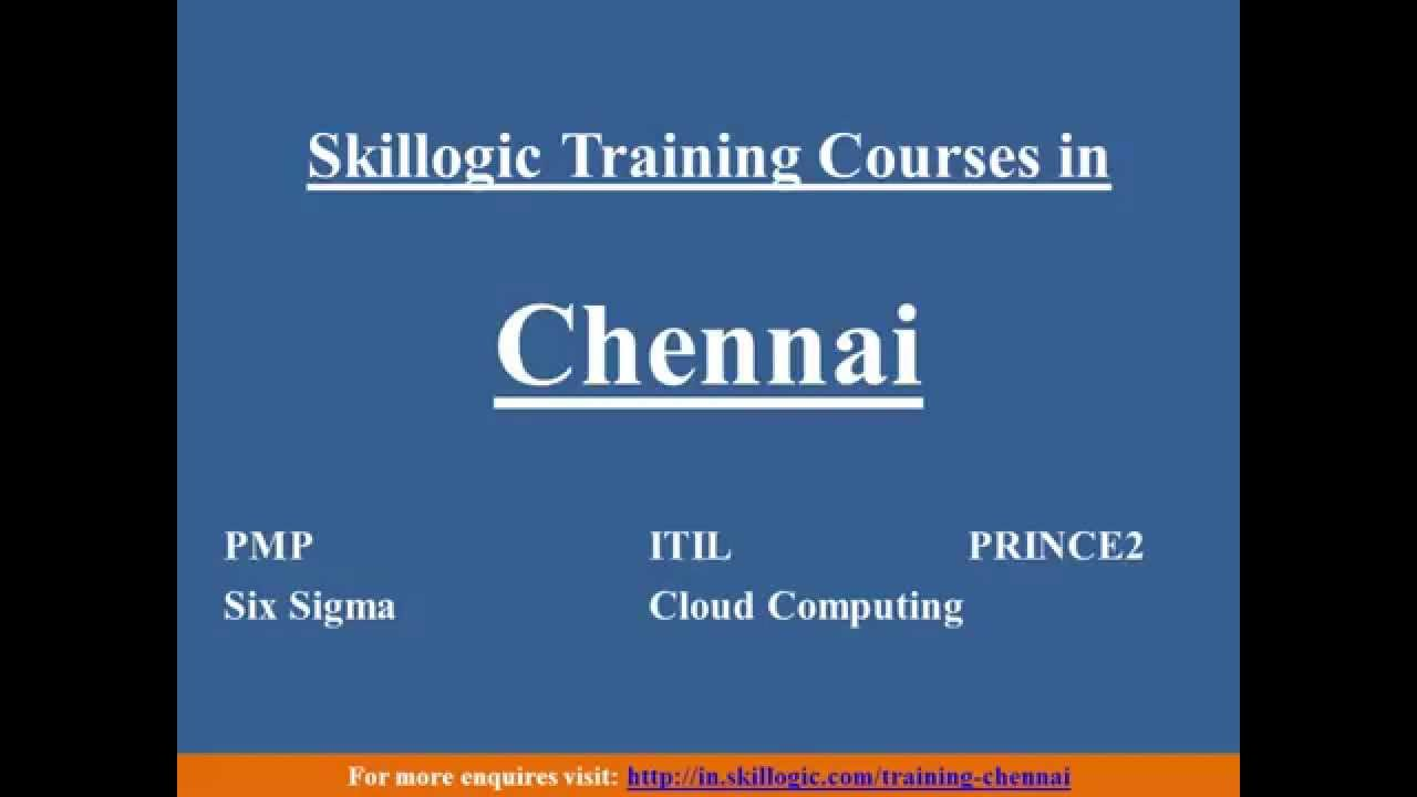 Skillogic Training Courses In Chennai Youtube