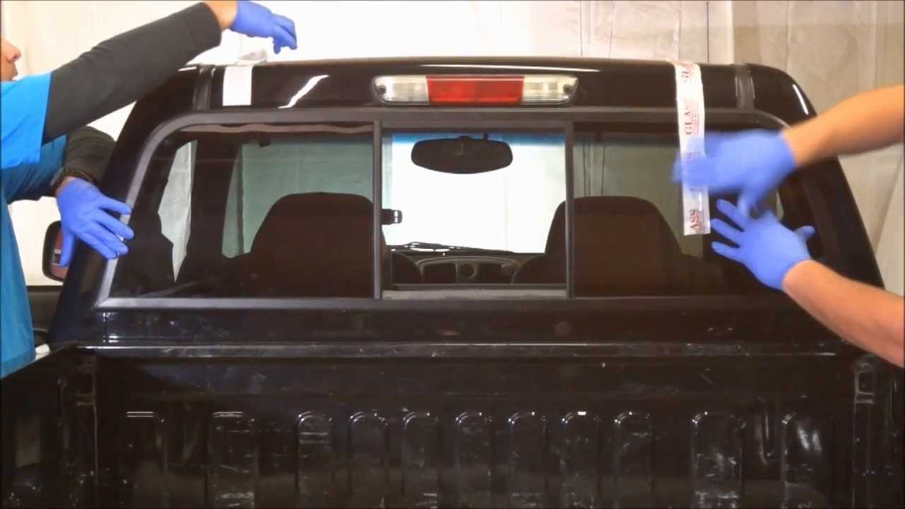 How To Install A Sliding Rear Window In A Pickup Truck