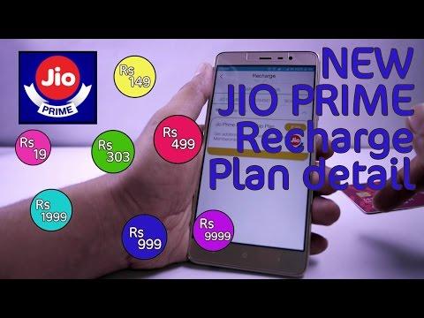 JIO PRIME Membership Recharge Tariff Plan Details | JIO 4G New Data Plans