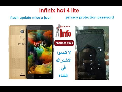 infinix hot 4 lite privacy protection password + flash update