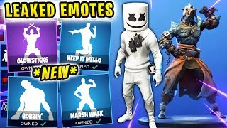 FORTNITE *NEW* UPDATE LEAKED SKINS & EMOTES! *MARSHMELLO* (MARSH WALK, KEEP IT MELLO, GLOWSTICKS)