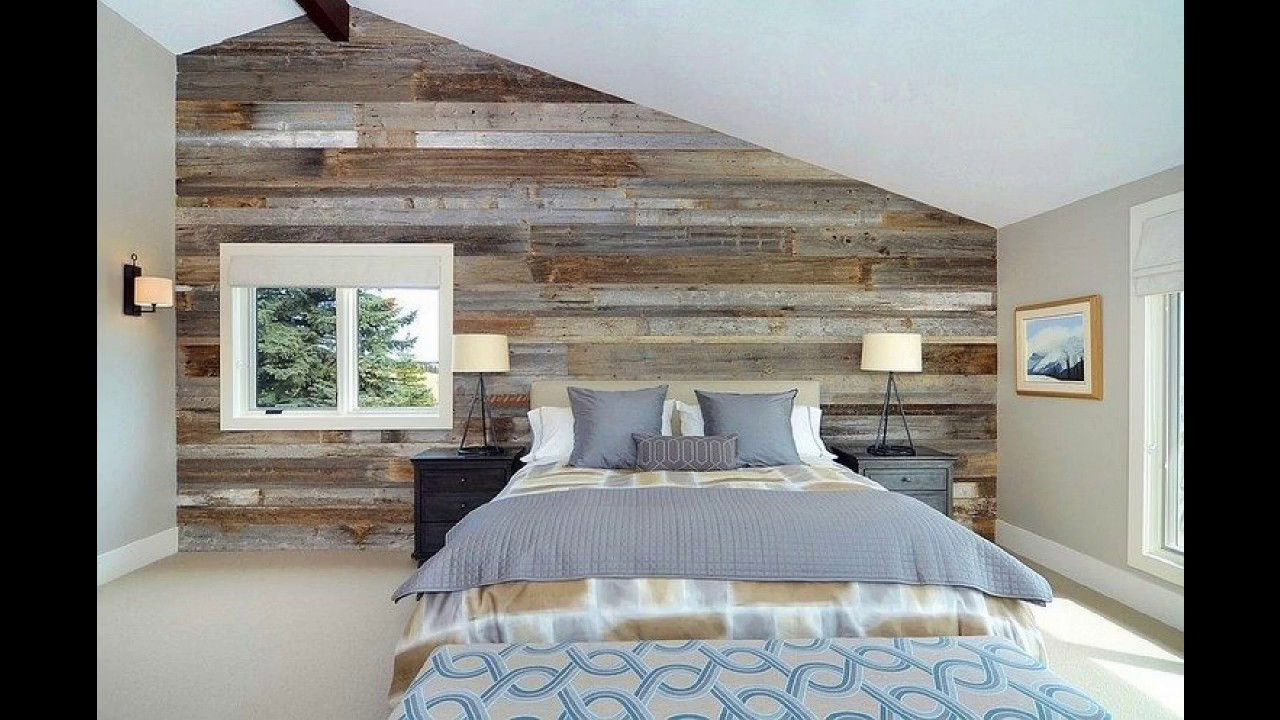 mur en bois recycl en 25 photos inspirantes pour am nager une chambre l esprit r cup youtube. Black Bedroom Furniture Sets. Home Design Ideas