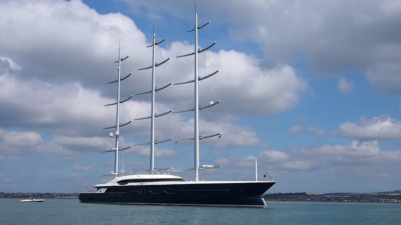 Black Pearl Super Yacht In Weymouth Bay Dorset Uk