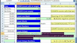 Excel Magic Trick 362: 12 Amazing Counting Formulas