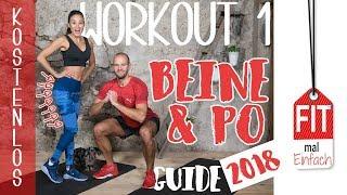 Bein & PO Workout zum mitmachen - Übungen für Oberschenkel & Knackpo - TAG 1