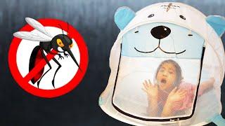 벌레가 나타나도 문제없어요!! 서은이의 호랑이 모기장 잠자리채 요술 장난감 상자 엄마와 놀이 Tiger Mosquito net to Stop Bugs and Toy Locker
