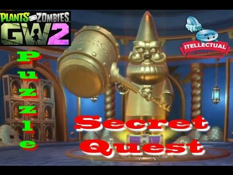 Plants Vs Zombies Garden Warfare 2 Solve Full Gnome 39 S Puzzle Secret Quest Youtube