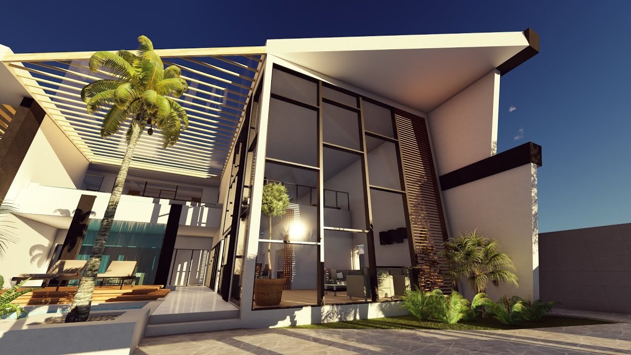 Front Elevation For House Lumion 6 3d Render Sea House Design Youtube