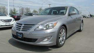 2013 Hyundai Genesis Sedan Premium Start up, Walkaround and Vehicle Tour