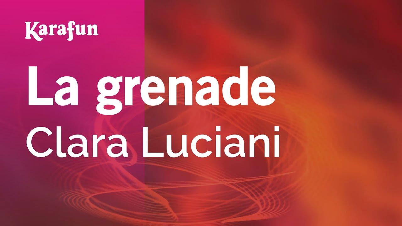 La grenade - Clara Luciani | Karaoke Version | KaraFun