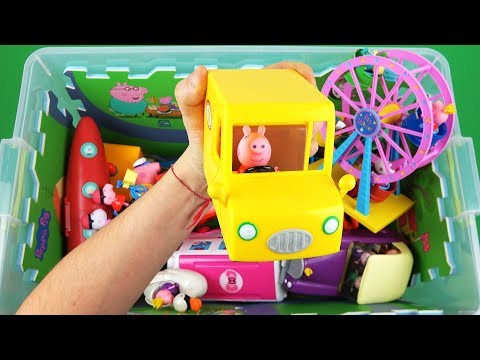 Learn Characters, Colors, Vehicles with Dory, Peppa Pig, Baymax, McQueen, Holly in toys box for Kids