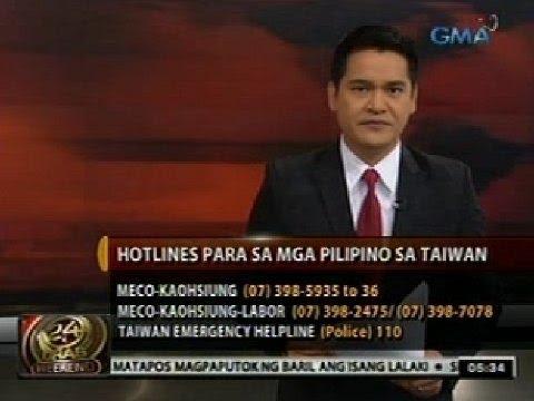 24 Oras: Manila Economic and Cultural Office Hotlines sa Taiwan