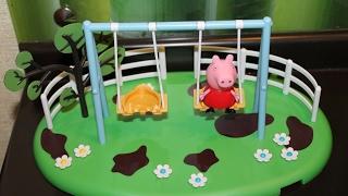 Игровая площадка Пеппы Качели Распаковка Обзор игрушки Свинка Пеппа