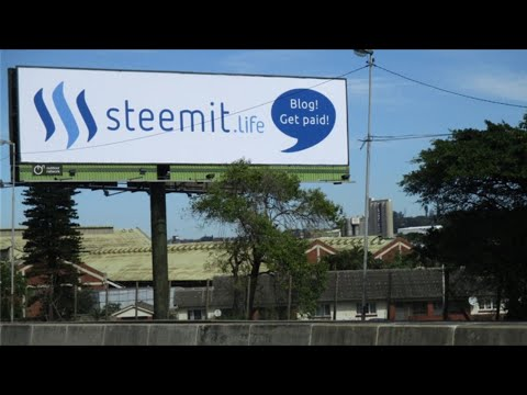 Steemdrive: Second Proof of Successful Crowdfunded Billboard Flight in Durban, South Africa!
