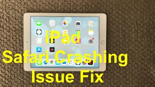 iPad Safari Crashing Problem And Fix, How To Safari Crashing Issue on iPhone or iPad