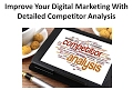 Improve Your Digital Marketing with Detailed Competitor Analysis