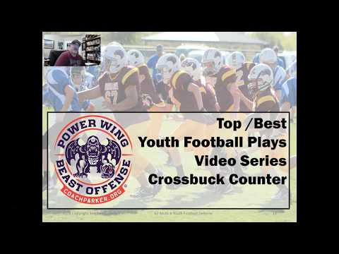 Top Pee Wee Football Plays - Crossbuck Counter - Best Offensive Play