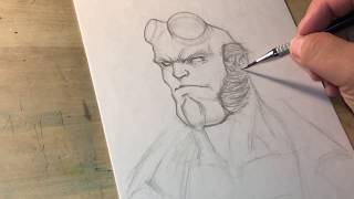 How to draw Hellboy part 1