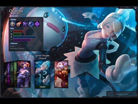 Winter Wonder Orianna Skin Spotlight Gameplay 1080p Hd League Of