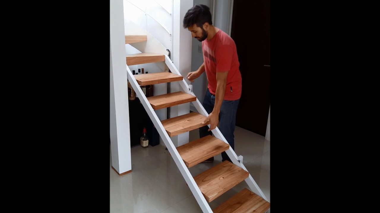 Escalera plegable y corrediza youtube - Escalera plegable altillo ...