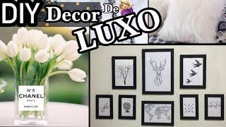 DIY DECORAÇÕES DE LUXO PARA O SEU QUARTO 💁🏼