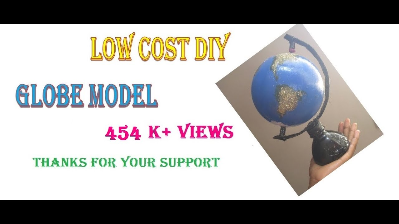 Low cost diy how to make a globe using ball vishnu haridass9 low cost diy how to make a globe using ball vishnu haridass9 years old gumiabroncs Choice Image