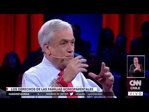 Sebastián Piñera cerró la puerta a la adopción homoparental. Aquí el momento