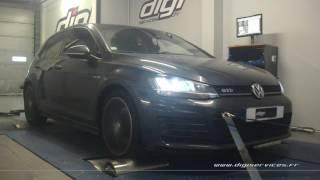 VW Golf 7 tdi 184cv DSG Reprogrammation Moteur @ 224cv Digiservices Paris 77 Dyno