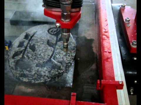 Maquina de corte a gua maxiem 1530 corte em granito - Maquina de agua ...