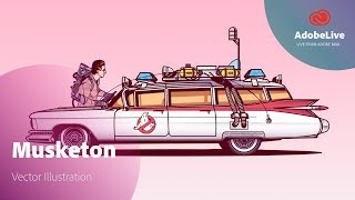 Live Illustration with Musketon | Adobe MAX 2017