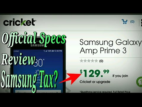 Samsung Galaxy Amp Prime 3 Review Of Official Specs Cricket
