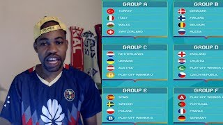 UEFA Euro 2020 Group Stage Draw REACTION