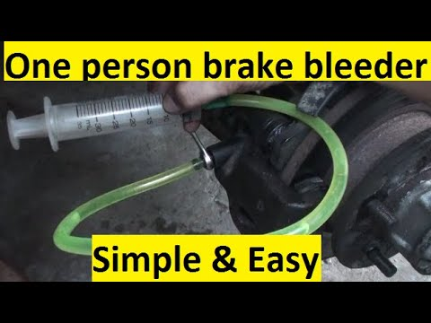 How To Bleed Your Brakes By Yourself Using Syringe