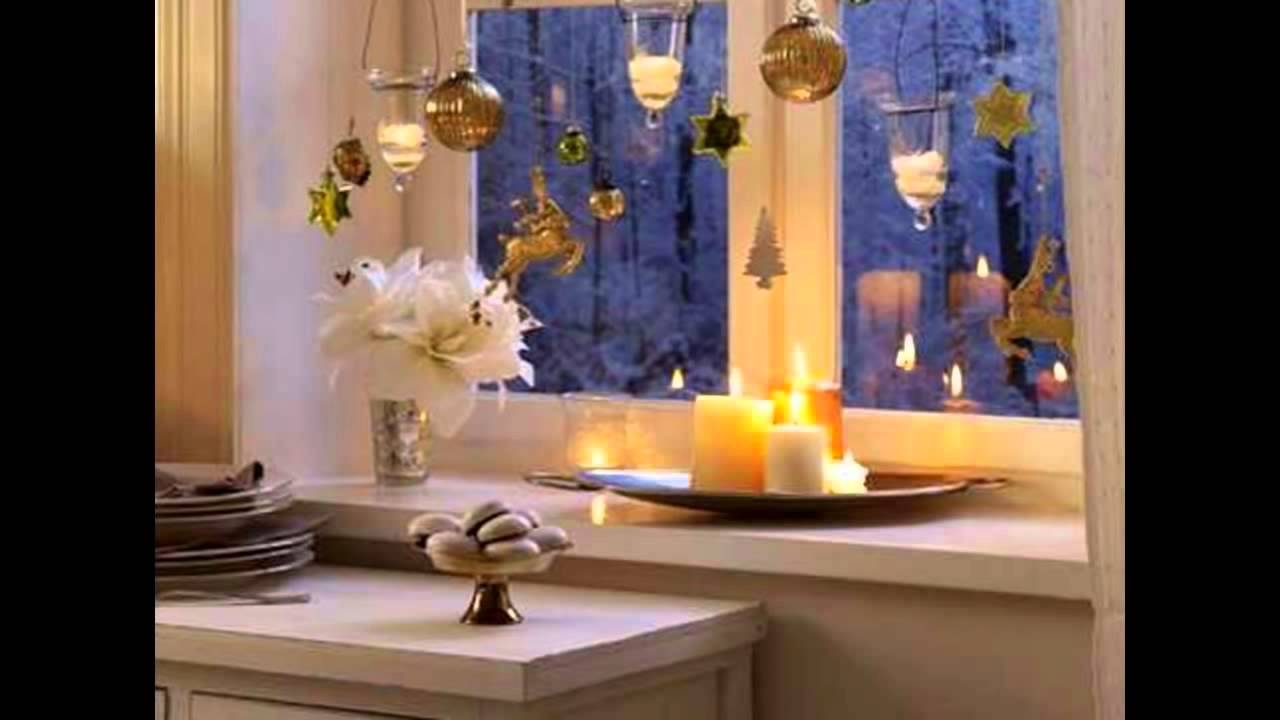 Ideas para decorar ventanas para navidad youtube for Ideas para adornar puertas en navidad