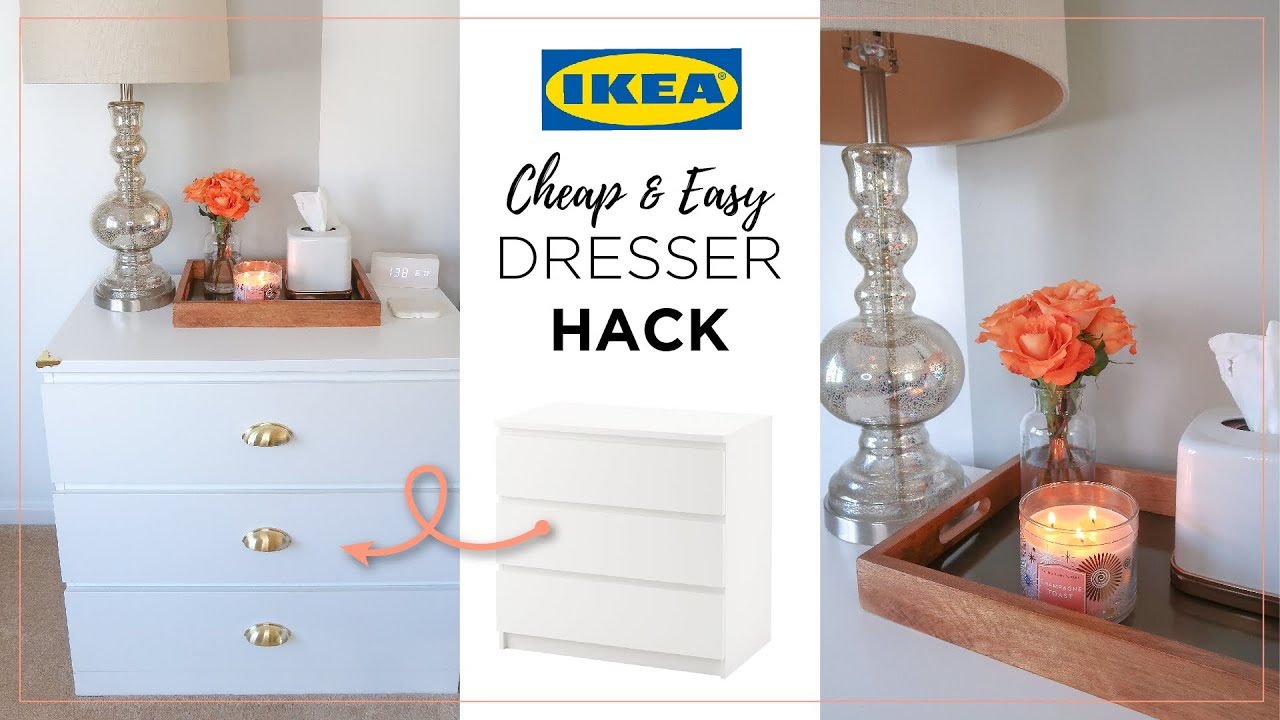 Ikea Malm Dresser Hack Cheap Easy Diy Campaign Dresser Dupe Nightstand Dresser Decor Ideas Youtube