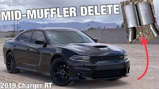 IT SOUNDS PERFECT!! Mid Muffler Delete on My 2019 Dodge Charger RT with Before and After Sound