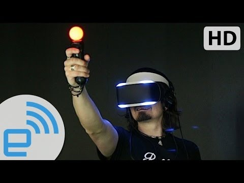 Using Sony's Project Morpheus VR headset | Engadget