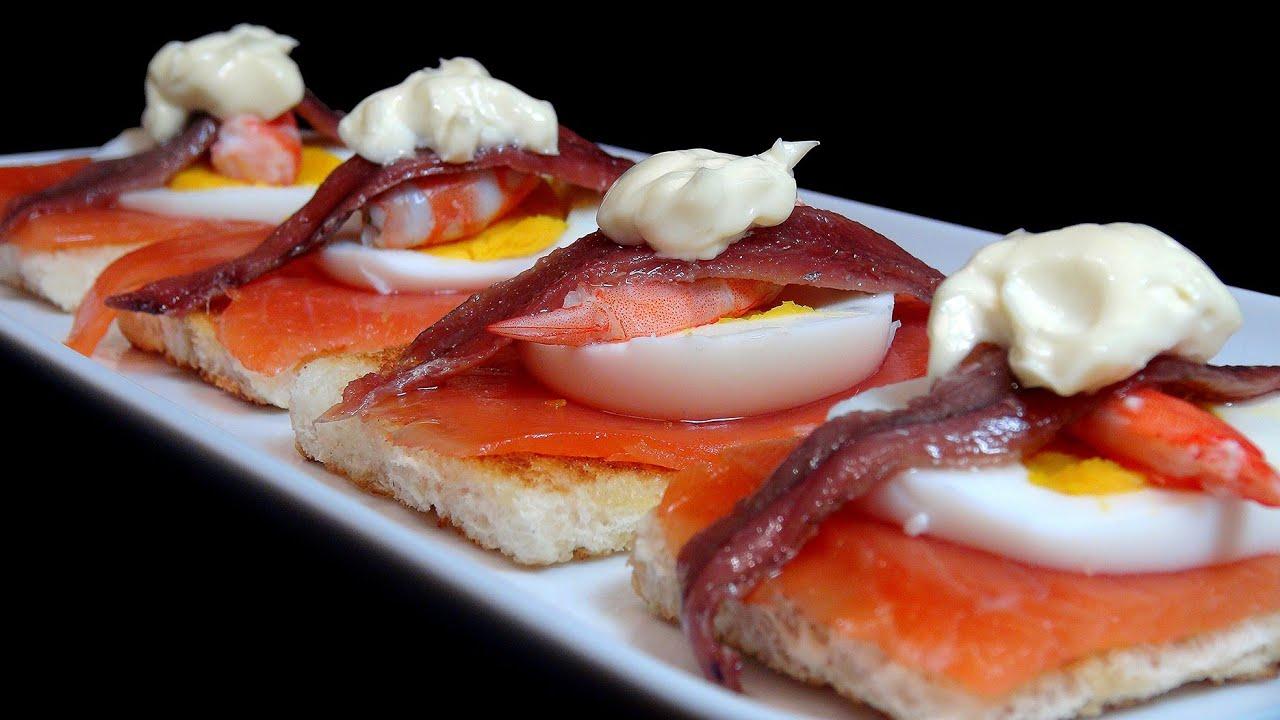 Pintxo de salmon y anchoa recetas de pintxos youtube for Canape de salmon ahumado