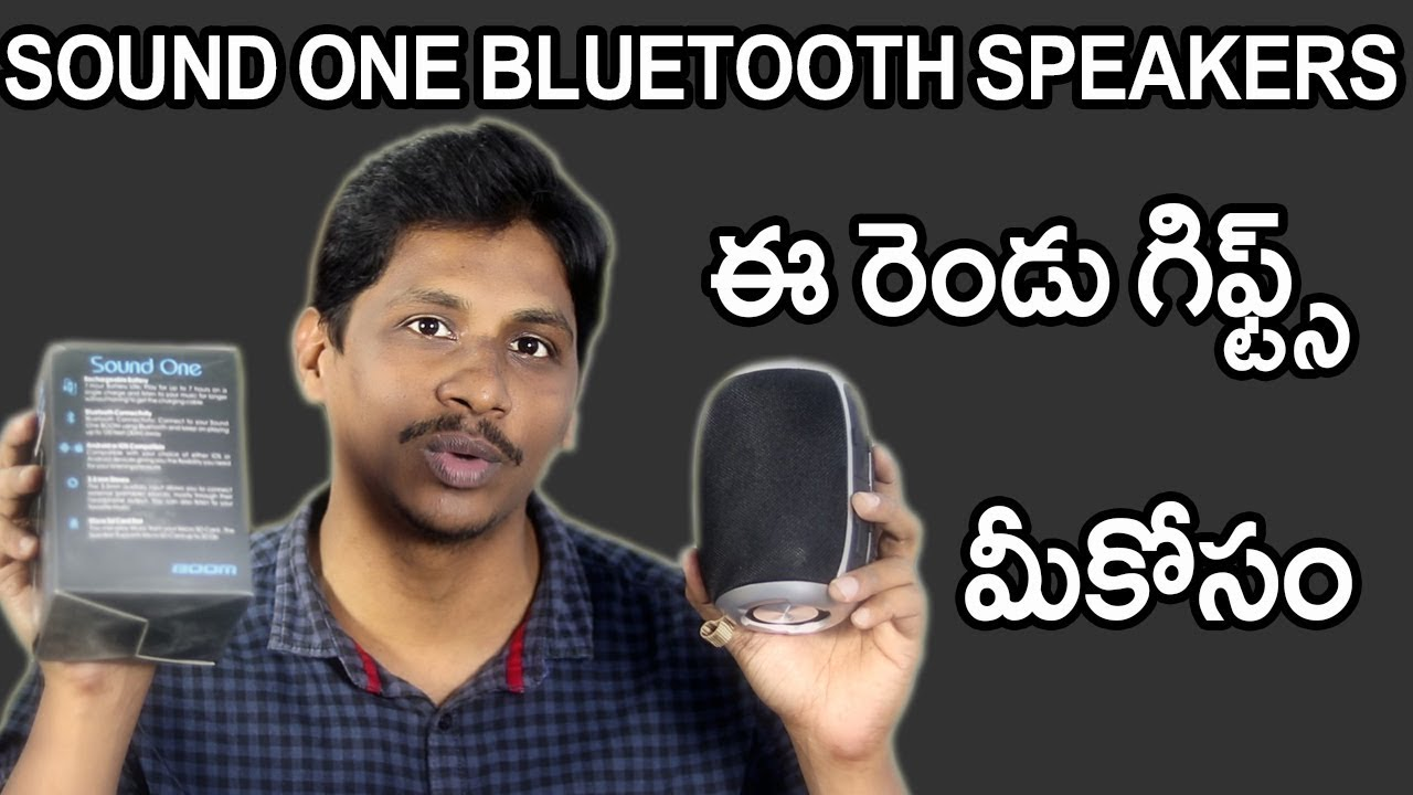 Sound one boom Bluetooth speakers unboxing and Giveaway telugu
